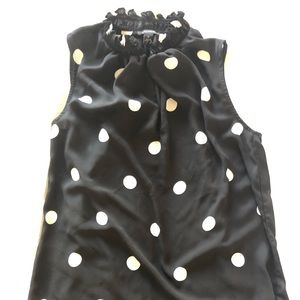 Ann Taylor polka dots top